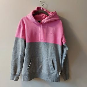 Roots Color Block Hoodie Grey Pink